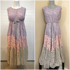 Vtg Floral Print Cottagecore Dress